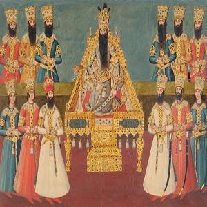 نقاشی دربار فتحعلی شاه