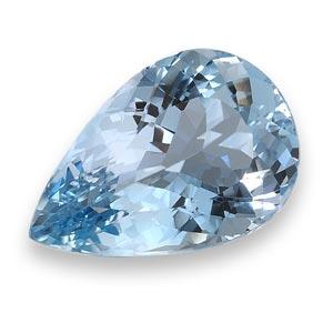 جواهر تراش خورده آبی رنگ به شکل قطره