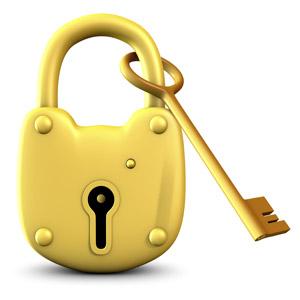 قفل و کلید در هم