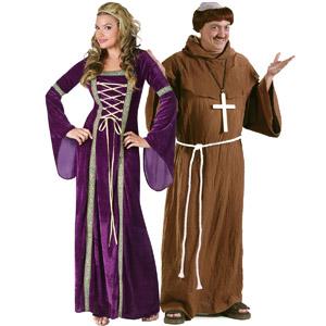 راهب و زن زیبا در کنار هم
