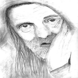 نقاشی مرد فقیر
