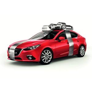 ماشین اسپرت قرمز روبان پیچ شده
