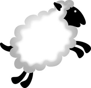 نقاشی گوسفند در حال پریدن